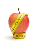 jabłczana pomiarowa czerwona taśma Obraz Royalty Free