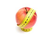 jabłczana pomiarowa czerwona taśma Zdjęcie Stock