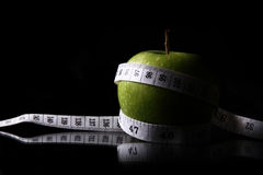 jabłczana pomiarowa taśma zdjęcia royalty free