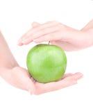 jabłczana ręka Obrazy Royalty Free