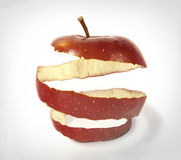 jabłczana skóra ilustracji
