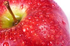 jabłczana soczysta makro- czerwień Zdjęcia Stock