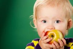 jabłczana tła dziecka zieleń Obrazy Royalty Free