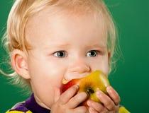 jabłczana tła dziecka zieleń Obraz Stock