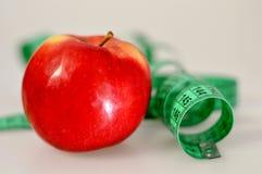 jabłczana taśma pomiarowa Zdjęcie Royalty Free
