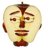 jabłczana twarz Fotografia Royalty Free
