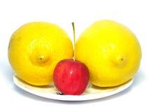 jabłczane cytryny trochę dwa Fotografia Royalty Free