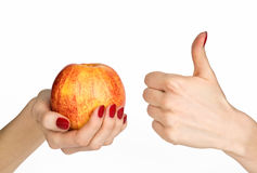 jabłczane ręki Zdjęcie Royalty Free