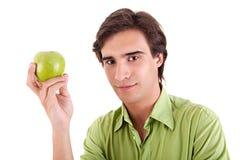 jabłczanego łasowania zielony mężczyzna Zdjęcie Royalty Free