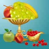 jabłczanego banana czereśniowe owoc wazowe Obrazy Royalty Free