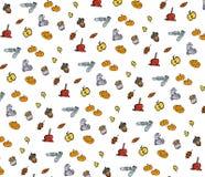 jabłczanego jesień świeczek składu susi liść target2422_0_ wazę Wzór robić jesień liście, acorn, sosna konusuje Mieszkanie nieatu Fotografia Stock