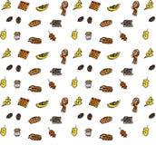 jabłczanego jesień świeczek składu susi liść target2422_0_ wazę Wzór robić jesień liście, acorn, sosna konusuje Mieszkanie nieatu Zdjęcia Stock