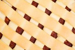 Jabłczanego kulebiaka zbliżenie Zdjęcie Royalty Free