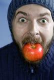 jabłczanego pojęcia zdrowa mężczyzna odżywiania zima Fotografia Stock