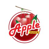 Jabłczanego soku logo ilustracja wektor