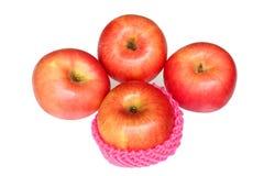 jabłczanego tła świeży odosobniony czerwony biel obrazy royalty free
