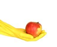 jabłczanego tła rękawiczkowy biały kolor żółty Fotografia Royalty Free