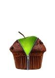 jabłczanego torta czekoladowa filiżanka Zdjęcie Stock