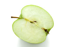 jabłczanej tła zieleni odosobniony biel Fotografia Royalty Free
