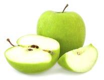 jabłczani cięcia zieleni segmenty Obrazy Stock