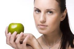 jabłczani dziewczyny zieleni potomstwa zdjęcie royalty free