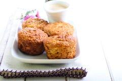 Jabłczani oatmeal muffins zdjęcia royalty free