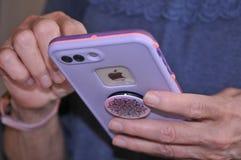 JABŁCZANI produkty IPHONE 8 PLUS IPHONES fotografia royalty free