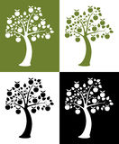 jabłczani ustaleni drzewa Fotografia Royalty Free