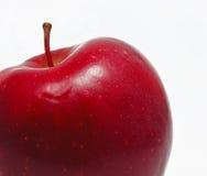 jabłczany świeży odosobniony czerwony biel Fotografia Royalty Free