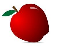 jabłczany świeży odosobniony makro- czerwony biel Ilustracja jabłczana ikona Obrazy Royalty Free