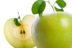 jabłczany świeży plasterek zdjęcia royalty free