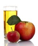 jabłczany świeży szklany sok Zdjęcie Stock