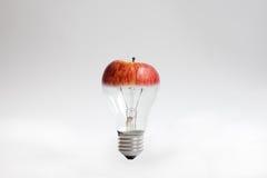 jabłczany żarówki światła wierzchołek Zdjęcia Stock