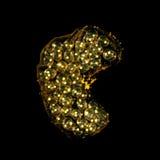 jabłczany aquarian ślimaczka ikry kolor żółty Obrazy Stock