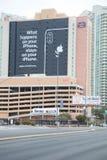 Jabłczany billboard przy CES 2019, lasy Vegas fotografia royalty free
