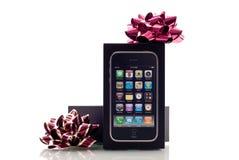 jabłczany bożych narodzeń prezenta iphone zdjęcie stock