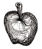 jabłczany czarny nakreślenie biel Obrazy Royalty Free