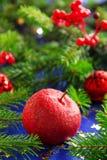 Jabłczany czerwony cukierek Fotografia Royalty Free