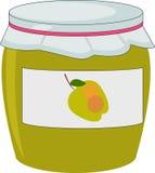 Jabłczany dżem w słoju Fotografia Stock