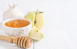 Jabłczany i miodowy tło Fotografia Royalty Free