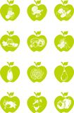 Jabłczany ikona set Zdjęcie Royalty Free