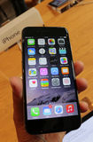 Jabłczany iPhone 6 Fotografia Royalty Free