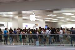 Jabłczany iPhone 6 i iPhone 6 plus Zdjęcie Stock