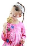 jabłczany karmelu dziecka łasowanie obrazy royalty free