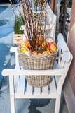Jabłczany koszykowy przygotowania Fotografia Royalty Free