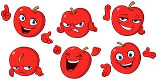 Jabłczany kreskówka set ilustracja wektor