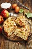 Jabłczany kulebiak, Charlotte Fotografia Stock
