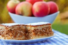 Jabłczany kulebiak - jabłczany tort Zdjęcia Royalty Free