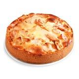 Jabłczany kulebiak odizolowywający Zdjęcie Royalty Free