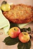 Jabłczany kulebiak z jabłkiem Fotografia Royalty Free